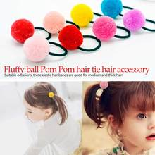 Simple Girls Hair Band Cute ball Pearl Bow Elastic Rubber Bands Hair Ropes Ponytail Holder Tie Gum Hair Accessories цены