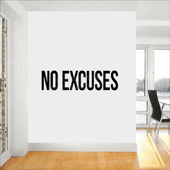 No Excuses Self Motivation Quote Gym Vinyl Wall Art