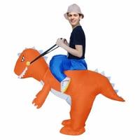 Adult Inflatable Dinosaur Costume Blow Up Dragon Fancy Dress Ride On Orange Dinosaur Inflatable Costume Halloween