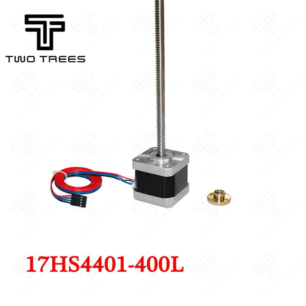 3d tornillo Motor nema17 17HS4401-400L/17HS4401S 3D controlador de motor paso a paso Nema17 paso motores T8 plomo tornillo de 8 MM 400mm 42 motor