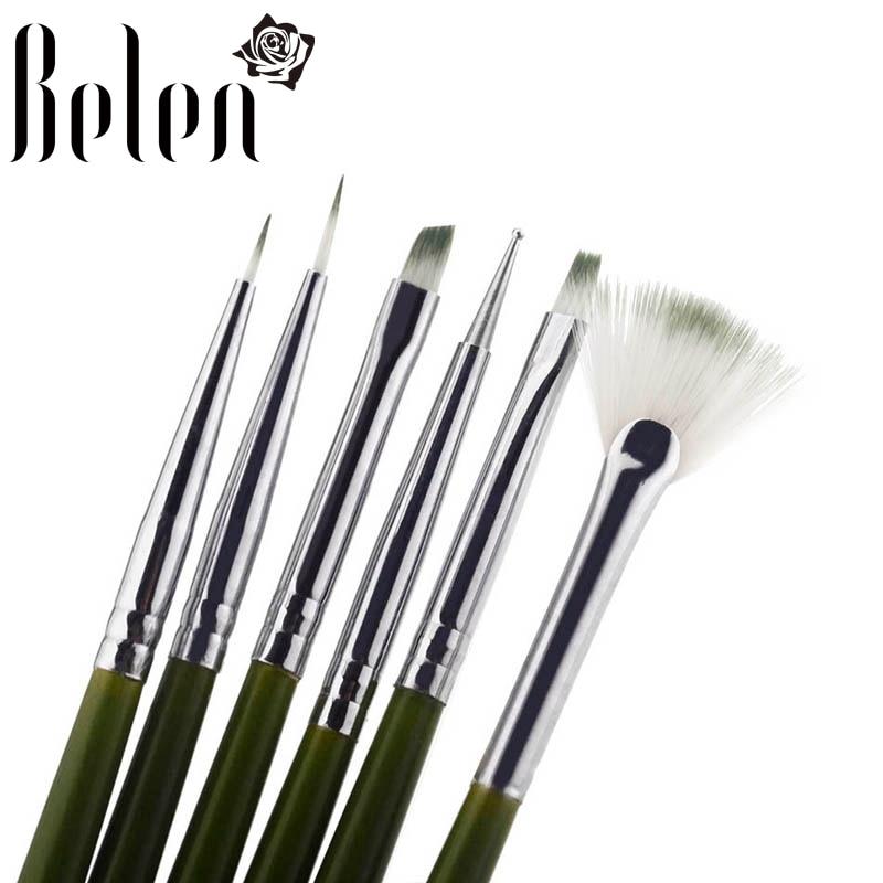 20pc Nail Art Design Painting Dotting Pen Brushes Tool Kit Set: Belen 6Pcs/lot Nail Art Design Brush Pens Madicure