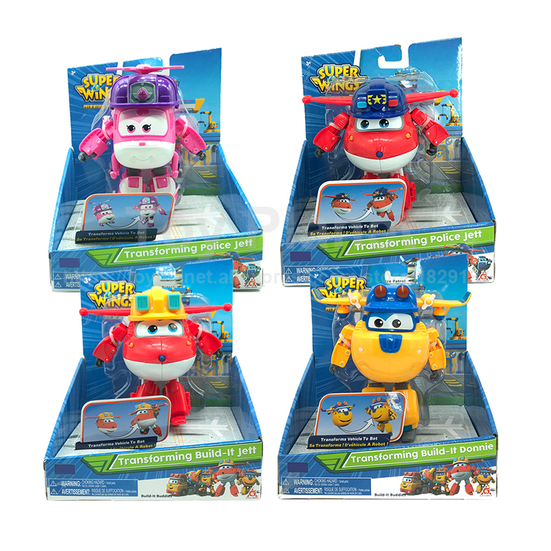 2019 All New Super Wings <font><b>4</b></font> Deformation Airplane Robots Action Figures <font><b>Transformation</b></font> Kids <font><b>Toy</b></font> image