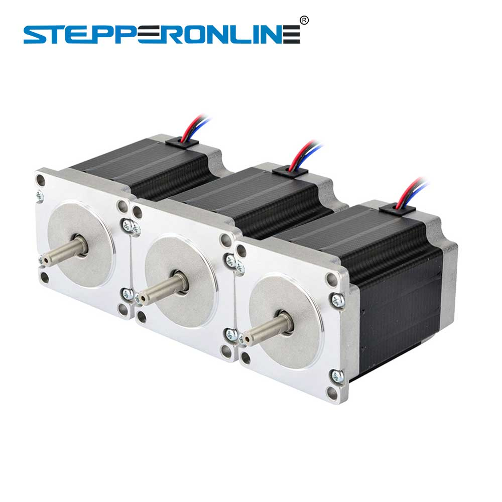 3PCS Nema 23 Stepper Motor 1.9Nm(269oz.in) 76mm 2.8A 4-lead Nema23 Step Motor 6.35mm Shaft DIY CNC Mill Router3PCS Nema 23 Stepper Motor 1.9Nm(269oz.in) 76mm 2.8A 4-lead Nema23 Step Motor 6.35mm Shaft DIY CNC Mill Router