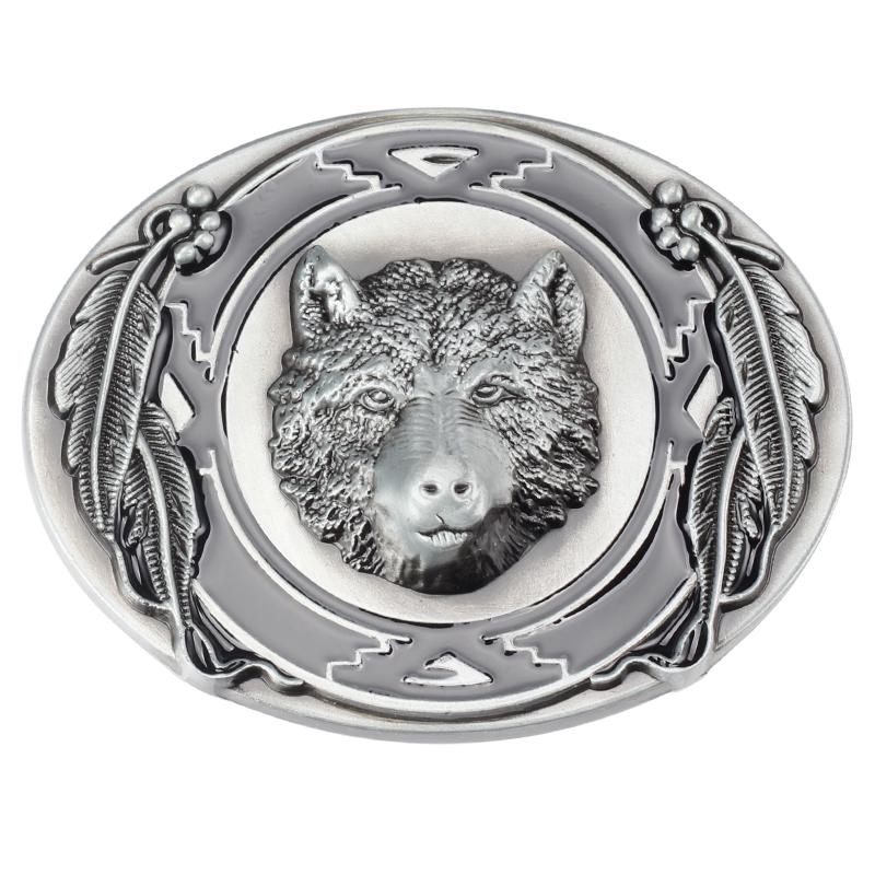 Three-dimensional Bear Head Alloy Belt Buckle For 3.8 CM Width Of The Belt