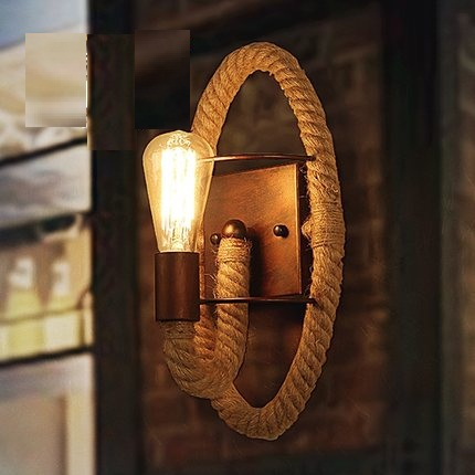 Loft  Style Rope Iron Wall Sconce Industrial Lamp Edison Vintage Wall Light For Home Antique Indoor Lighting Lampara Pared loft style iron edison wall sconce industrial lamp wheels vintage wall light for home antique indoor lighting lampara pared