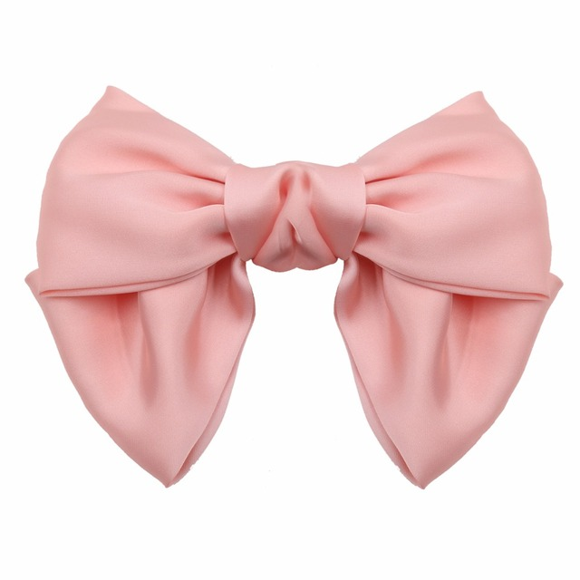 "Large Big Huge 8"" Soft Silky Chiffon Hair Bow Clip Lolita Party Oversize Handmade Girl French Barrette Style Hair Clips"
