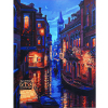 Free Shipping Frameless Venice Night Scenery DIY Digital Oil Painting Wall Decoration By Numbers Europe Abstract
