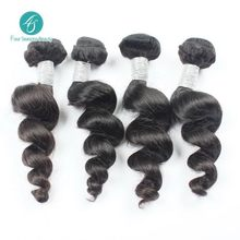 Ms Lula human hair weave 4PCS LOT Loose Wavy Unprocessed peruvian loose wave No Shed Tangle Shipping Peruvian Virgin Hair