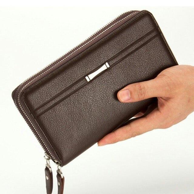 2d5a9eb779c Mujeres Masculino carpeta de Los Hombres de Negocios de Embrague cartera de Mano  bolsas con Cremallera