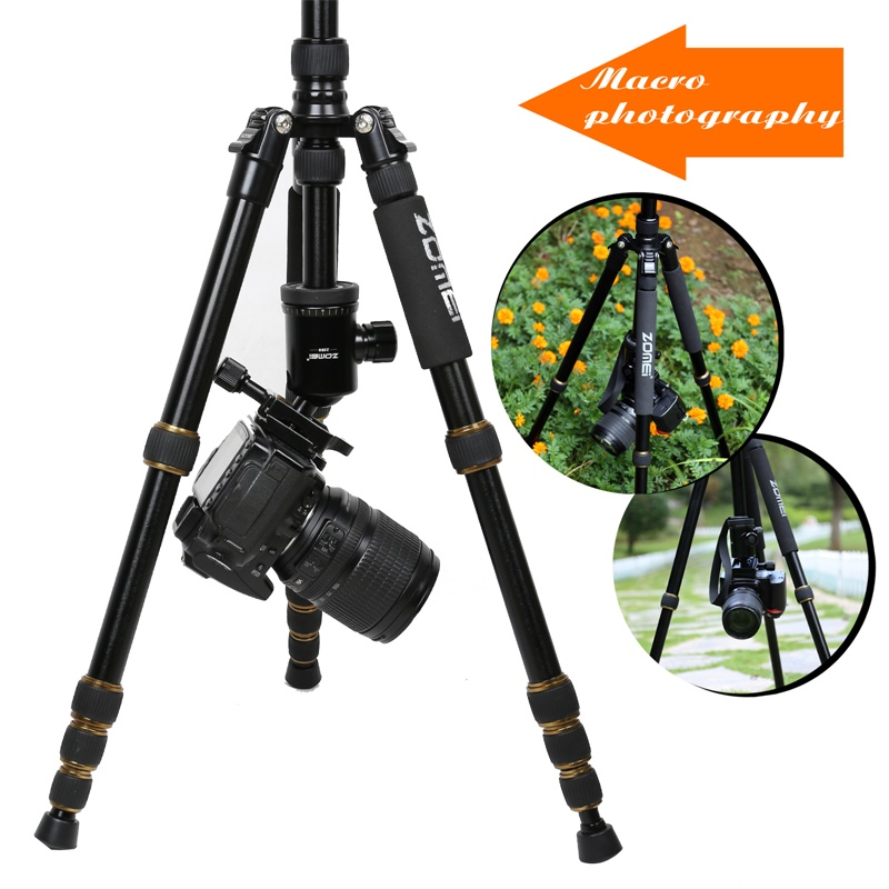 ZOMEI Z699 Travel Camera Tripod Magnesium Aluminum Alloy Monopod 360 degree Ball Head -6