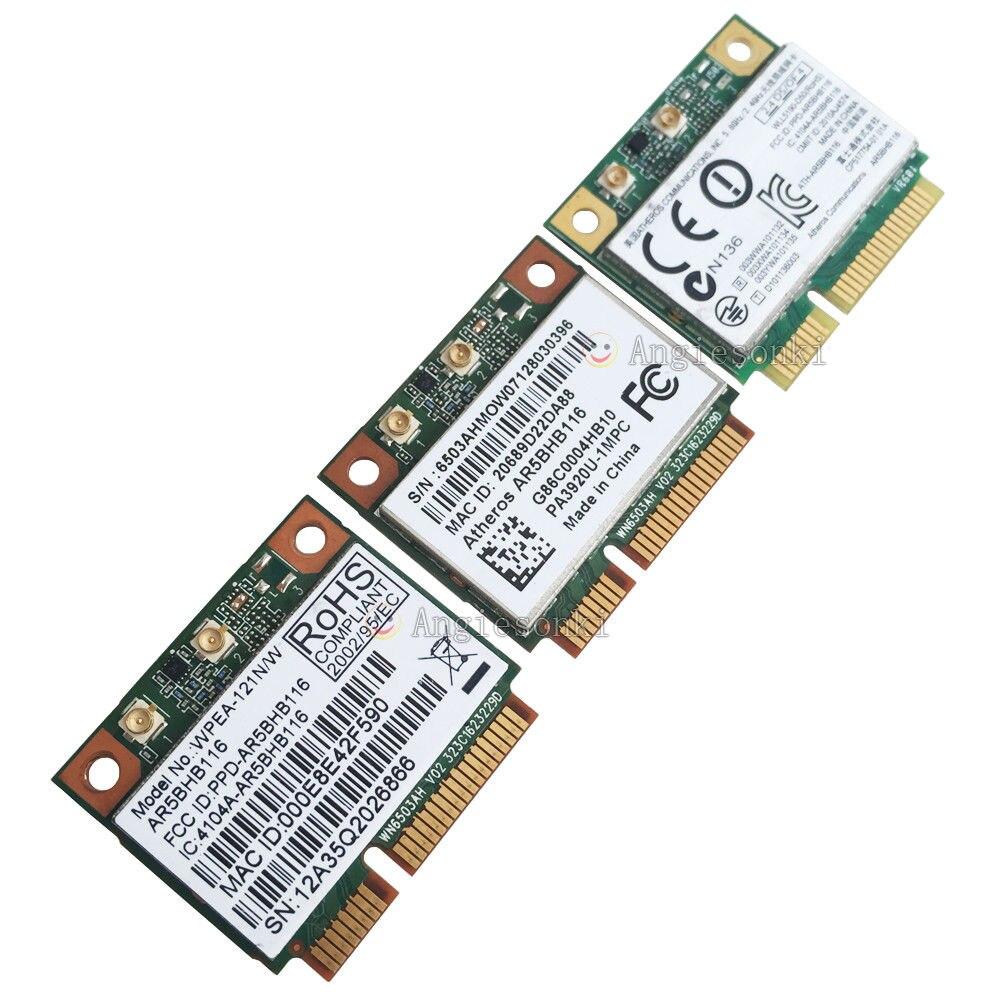 DOUBLE BANDE ATHEROS AR5BHB116 AR9382 300 Mbps 802.11n Générique WiFi Mini PCI-E Carte Sans Fil pour Dell Inspiron 1010 11z Ordinateur Portable 1450
