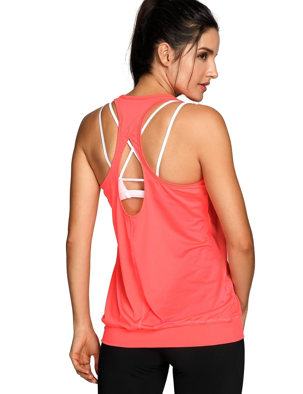 Womens Workout Yoga Fitness Racerback Running Sports Tank TopsWomens Workout Yoga Fitness Racerback Running Sports Tank Tops