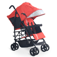 babyfond Twins Baby Stroller Light Folding Twins Stroller European Baby Strollers Lightweight twin pram