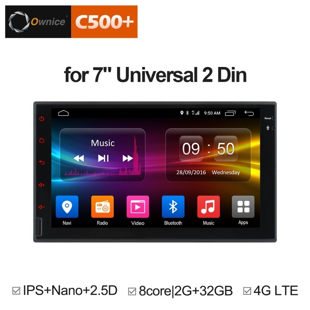 Ownice C500 G10 Octa 8 Core Android Head Unit Support 4G LTE SIM Network Car GPS 2 din Universal car Radio dvd Multimedia player