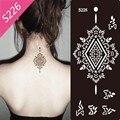 1 pc Mehndi Henna Glitter tatuagem temporária Stencil modelo de mulheres de braço de mão de pintura Airbrush colar