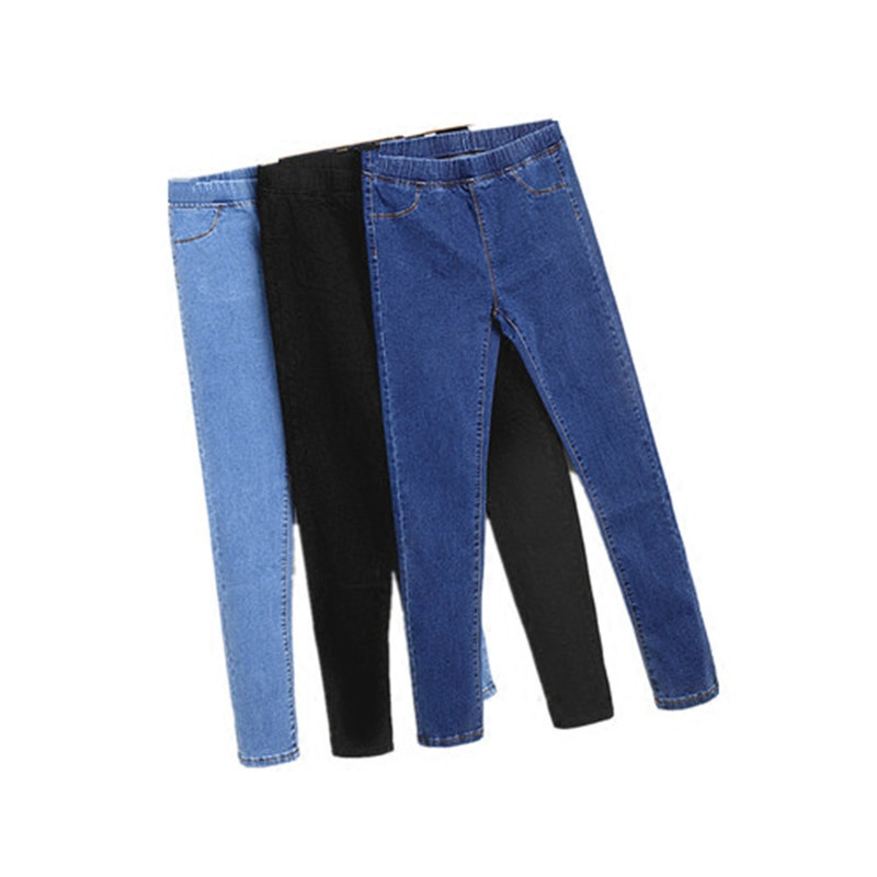 Plus Size 5XL Denim Jeans For Women Elastic High Waist Casual Stretch Skinny Pencil Pants Summer Women Jean Femme Trousers C3173 plus size pants the spring new jeans pants suspenders ladies denim trousers elastic braces bib overalls for women dungarees