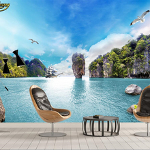 beibehang papel de parede Custom Photo Wallpaper 3D Mural Beautiful Sea
