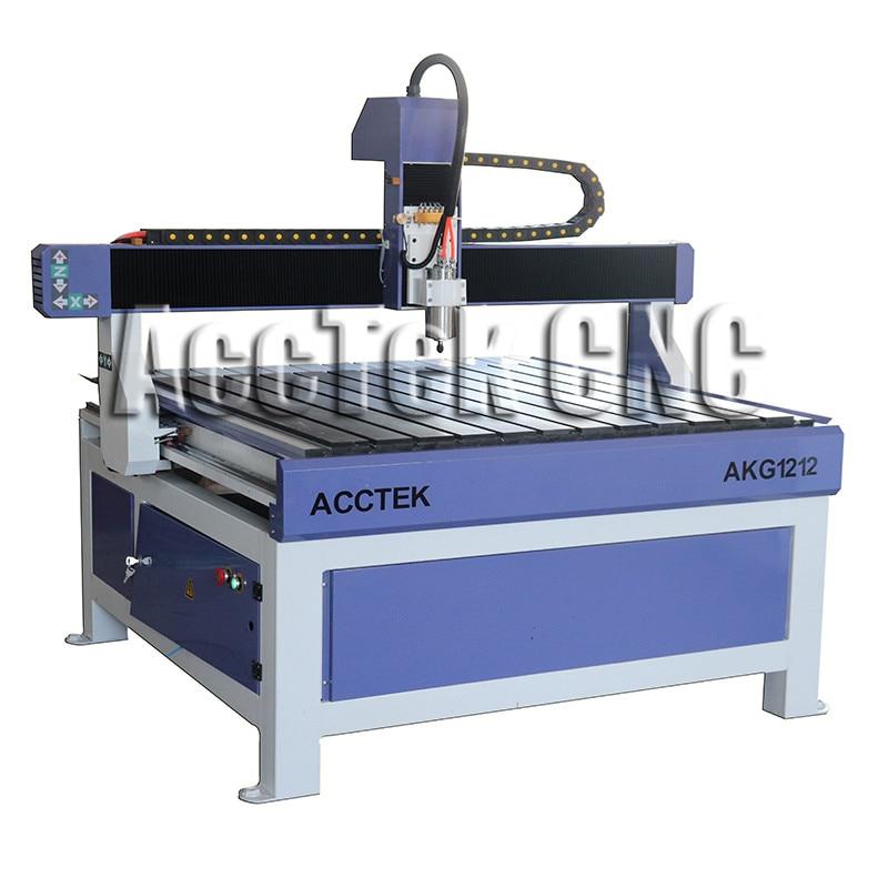JINAN usine AKG1212 publicité CNC routeur MACHINE pour couper le bois/plastique/MDF ETC métal et non métal