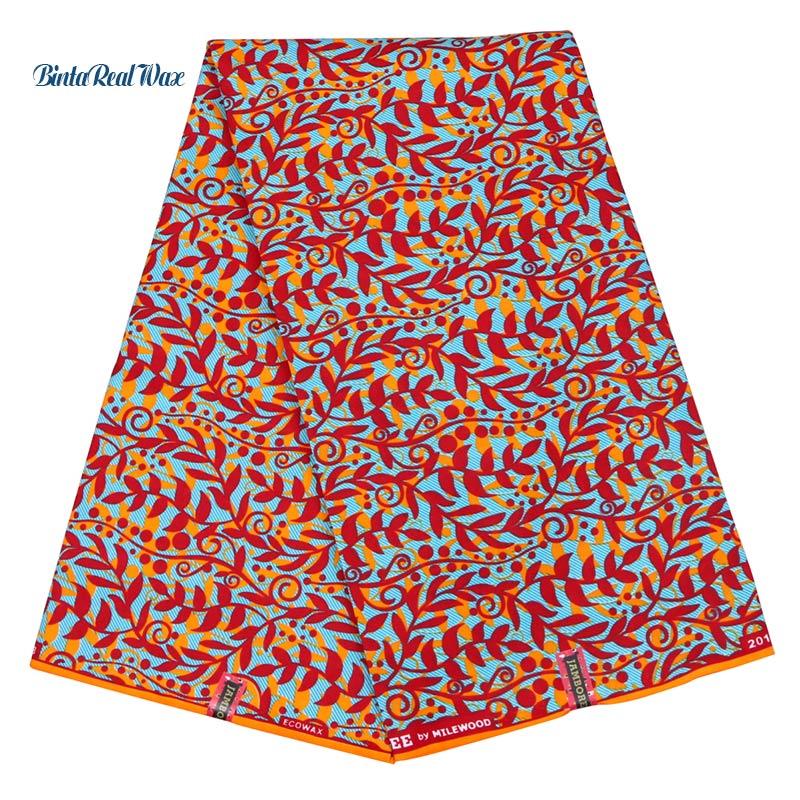 Dutch Wax Hollandais African Fabric 100% Polyester Plant Prints African Wax Fabric For Women Dress Ankara FabricsDutch Wax Hollandais African Fabric 100% Polyester Plant Prints African Wax Fabric For Women Dress Ankara Fabrics
