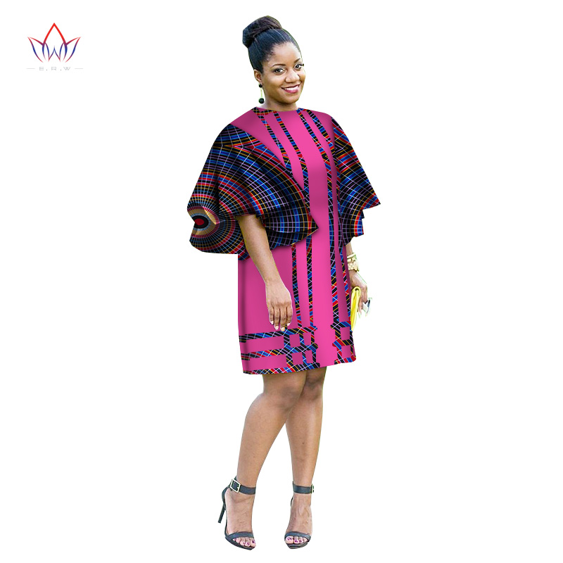 Summer Africa Fashion Dress for Women Dresses Bazin Riche Wax Print Fabric Party Dresses Sexy Strapless Dress For Girls WY3174