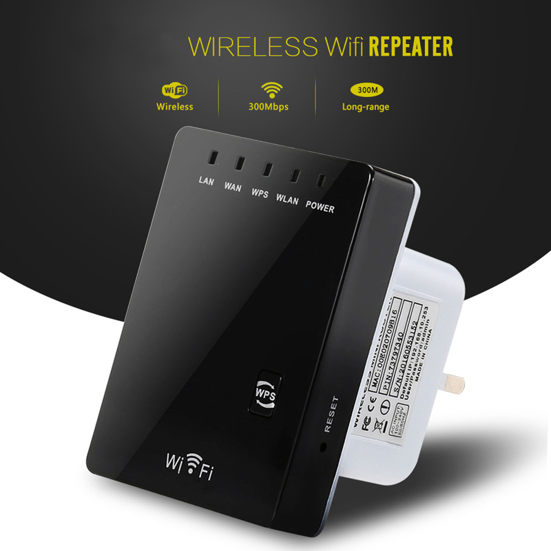 New Wireless WiFi Router Wifi Repeater 300MbpsSignal Booster Dual LAN Port 802.11n/ b/g Wifi Range Signal Expander Amplifier