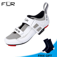 FLR Outdoor Men Road Bike Shoes Auto lock Bicycle Shoes Ultralight Breathable Triathlon Cycling Shoes Sneakers Sapatos ciclismo