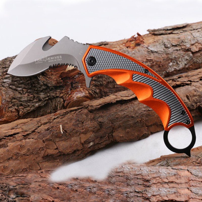 CS COLD Steel Folding Knife Black Sharpen Blade Karambit Knife Tactical Survival Pocket Knives Camping Rescue Hunting Fox Knifes kizer folding knife karambit pocket knives v4458a1 folding blade stainless steel knife outdoor tool