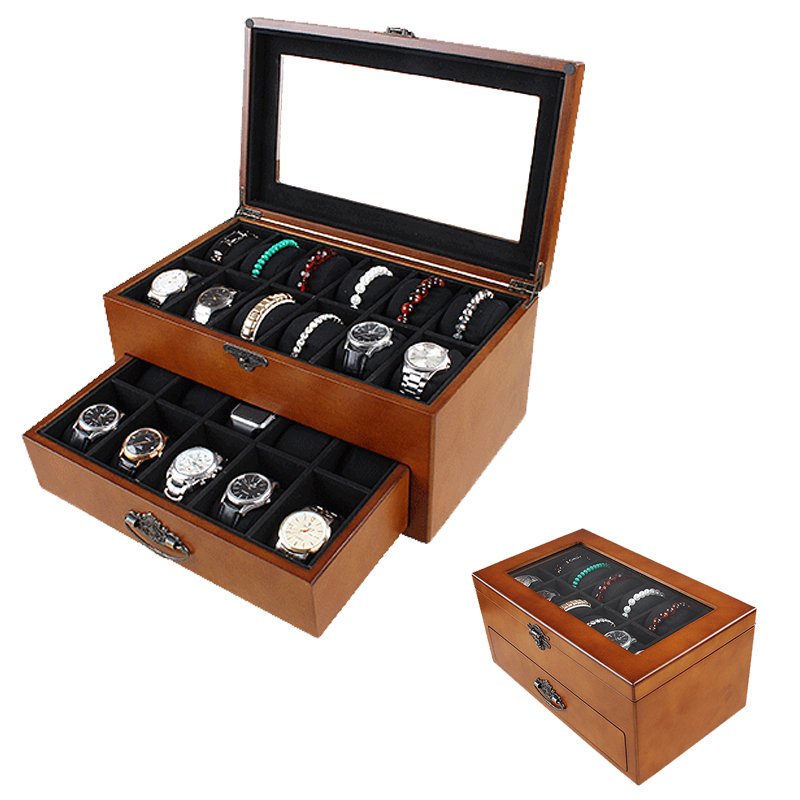 2019 New 22 Grids Wooden Watch Boxes for Hours Sheath for Hours Box for hours Watch 61 hours
