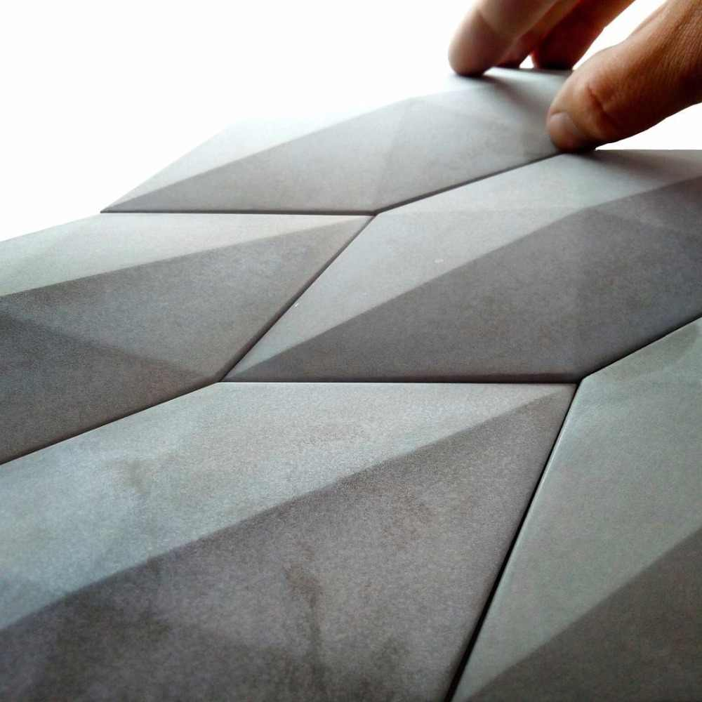 מלט 4 חורים קיר לבנים סיליקון עובש רקע קישוט פשוט תעשייתי רוח מצולע עיצוב הבית בטון עובש