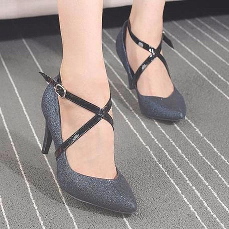 Charm Women Creative Design Convenient Leather Shoes Belt Ankle Shoe Tie Lady Strap Lace Band For Holding Loose High Heels frilly single band ankle strap heels mauve