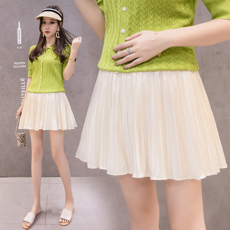Chiffon Maternity Skirts Elastic Low-Waist Belly Mini Skirts Clothes For Pregnant Women Summer Fashion Pregnancy Skirts C866
