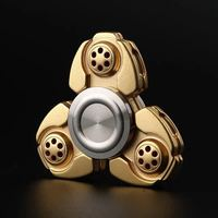2017 Russian CKF Alloy Triangle Gyro Fidget Spinner Metal EDC Hand Finger Spinner For Autism ADHD
