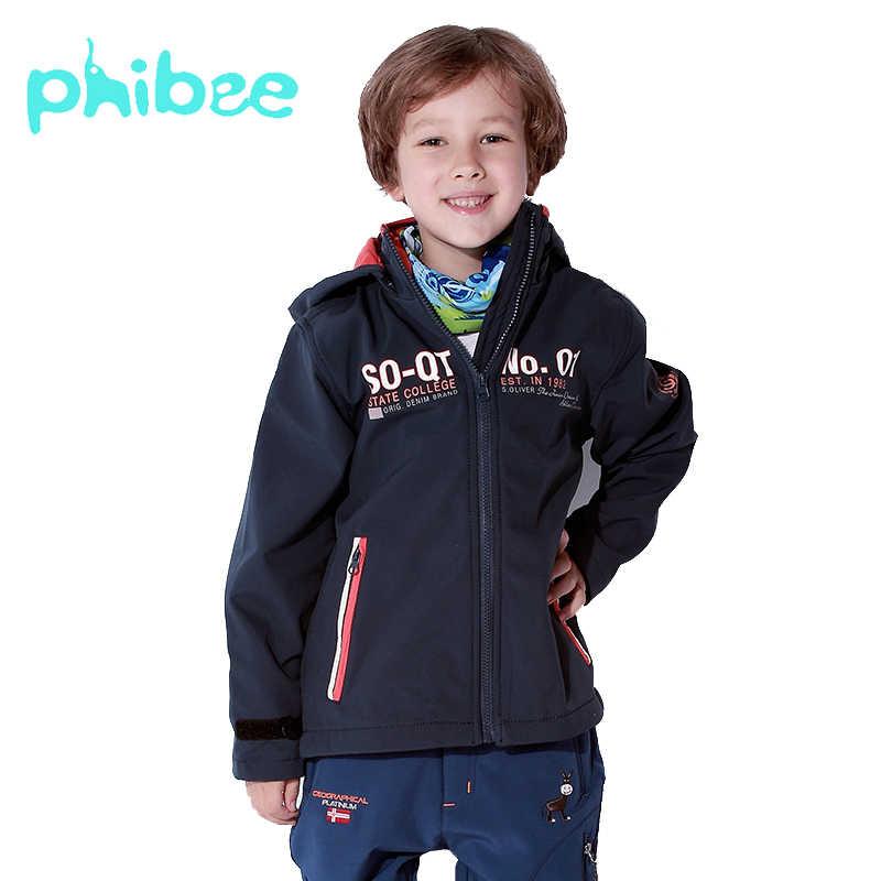 Phibee 男の子ジャケット防風ウインドブレーカーアウトドアスポーツソフトシェルフード付きジャケットカジュアル子供服