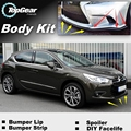 Bumper Lip Deflector Lips For Citroen DS4 DS 4 Front Spoiler Skirt For TopGear Friends Car Tuning View / Body Kit / Strip