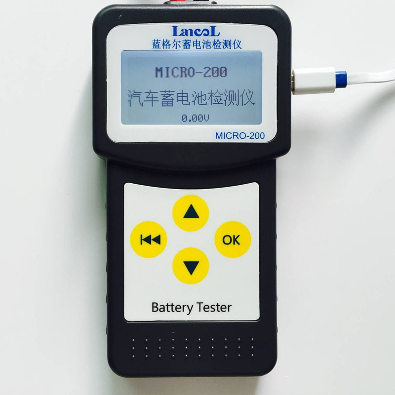 imágenes para LANCOL 30-200Ah MICRO-200 Barato 12 V Automotriz Probador De Carga de la Batería de Coche con USB para la impresión