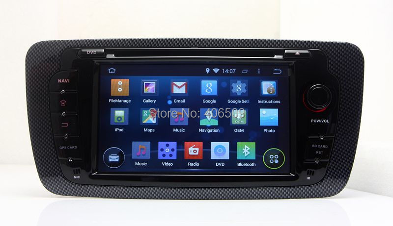 android 5 1 car dvd player gps navigation for seat ibiza 2009 2010 2011 2012 2013 with radio bt. Black Bedroom Furniture Sets. Home Design Ideas