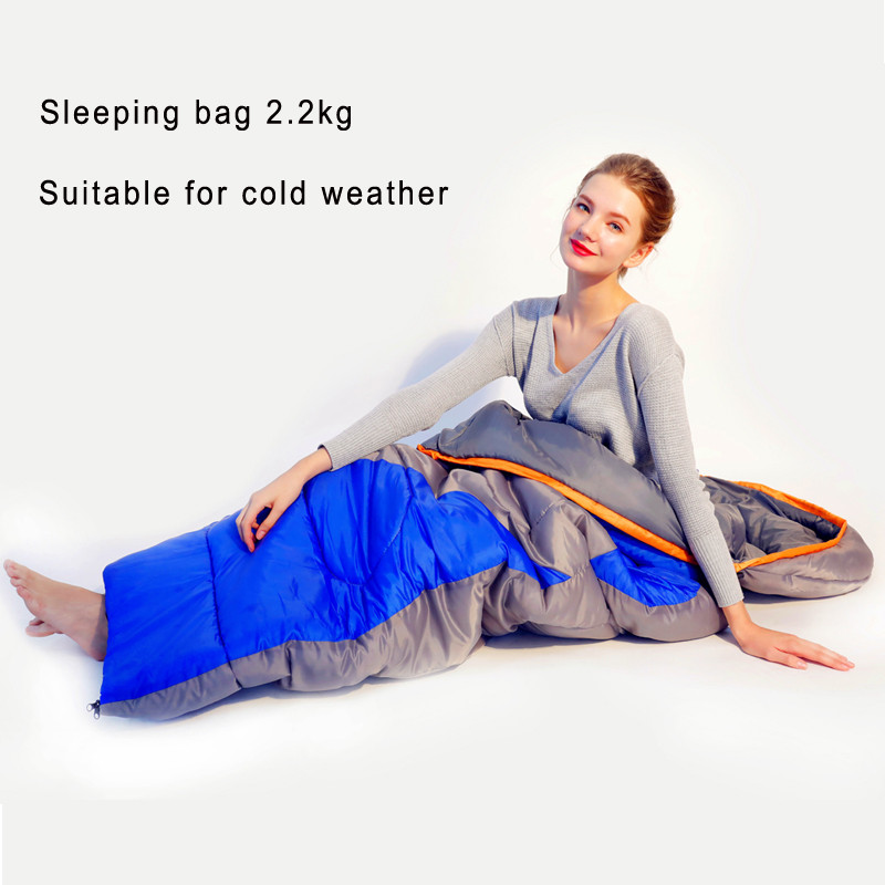 Outdoor camping 2 2kg adult envelope style Sleeping bag waterproof keep warm Suitable for autumn winter