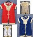 Moda 2016 infante juego de la espiga ropa de china estilos verano del bebé del mameluco de la ropa de oro envío gratis