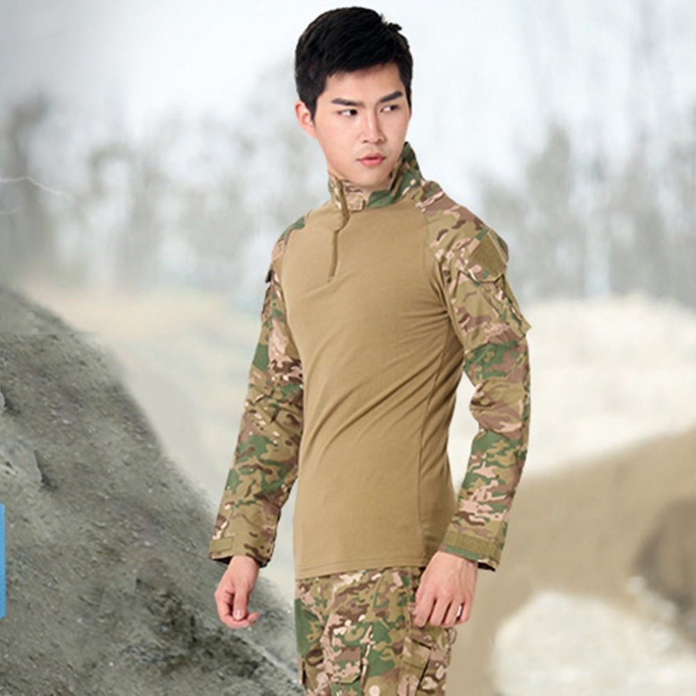 New Military Uniform Multicam Army Combat Shirt Uniform Tactical Pants With Knee Pads Camouflage Suit Hunting Clothes mgeg militar tactical cargo pants men combat swat trainning ghillie pants multicam army rapid assault pants with knee pads