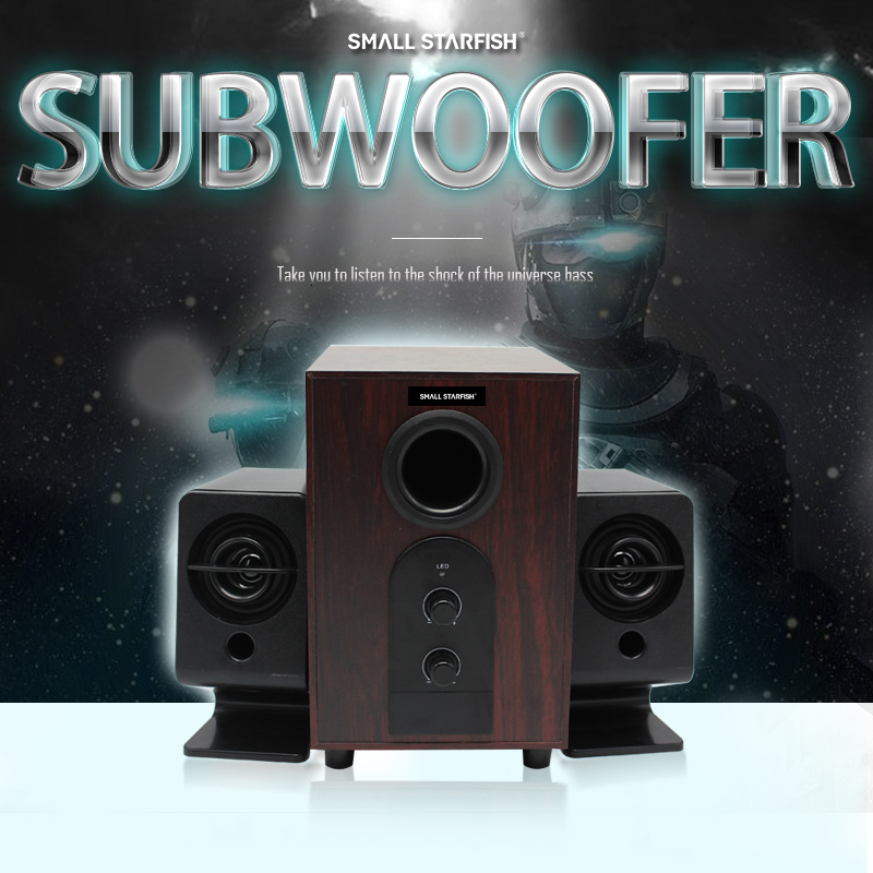 Small Starfish Wireless Bluetooth Speaker Portable Audio HiFi Home Theatre Sound System Stereo Music Subwoofer Computer Speakers