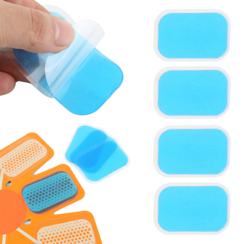 10pcs Gel Pads Stickers Fitness Full Body Massager Silicone Hydrogel Mat Replacement For Smart Abdomen Muscle Training