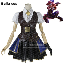 Custom size LOL Dark Child Annie Hastur cosplay costume Hex Victoria style dress