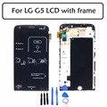 Para lg g5 h850 display lcd com tela de toque digitador assembléia com frame + ferramentas preto substituição frete grátis + n ° de rastreamento.