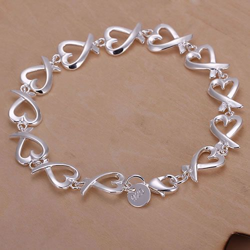 Hot sale 925 free shipping silver plated 925 free shipping Wholesale Silver charms fashion jewelery Seatangle Bracelet/KN-H177