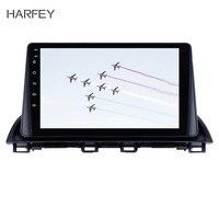 Harfey GPS Navi Radio Car Stereo 9Android 8.1 for Mazda 3 Axela 2014 2015 with Bluetooth 3G WIFI USB 1080P Aux Mirror Link SWC