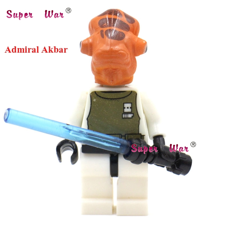 1PCS  Superhero Marvel Avengers Admiral Ackbar Building Blocks Action  Sets Model Bricks Toys For Children