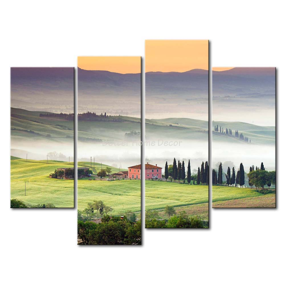 3 piece fresh look color wall art painting val d 39 orcia for Fresh look painting