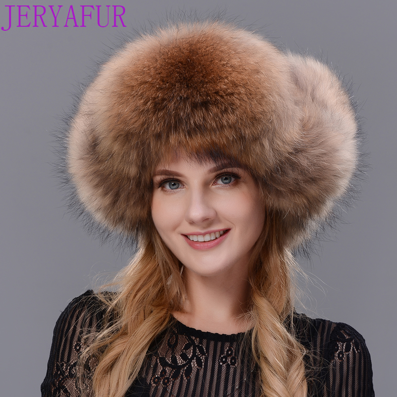 Woman s Real rabbit fur cap new women winter warm hat troll hat fox fur four