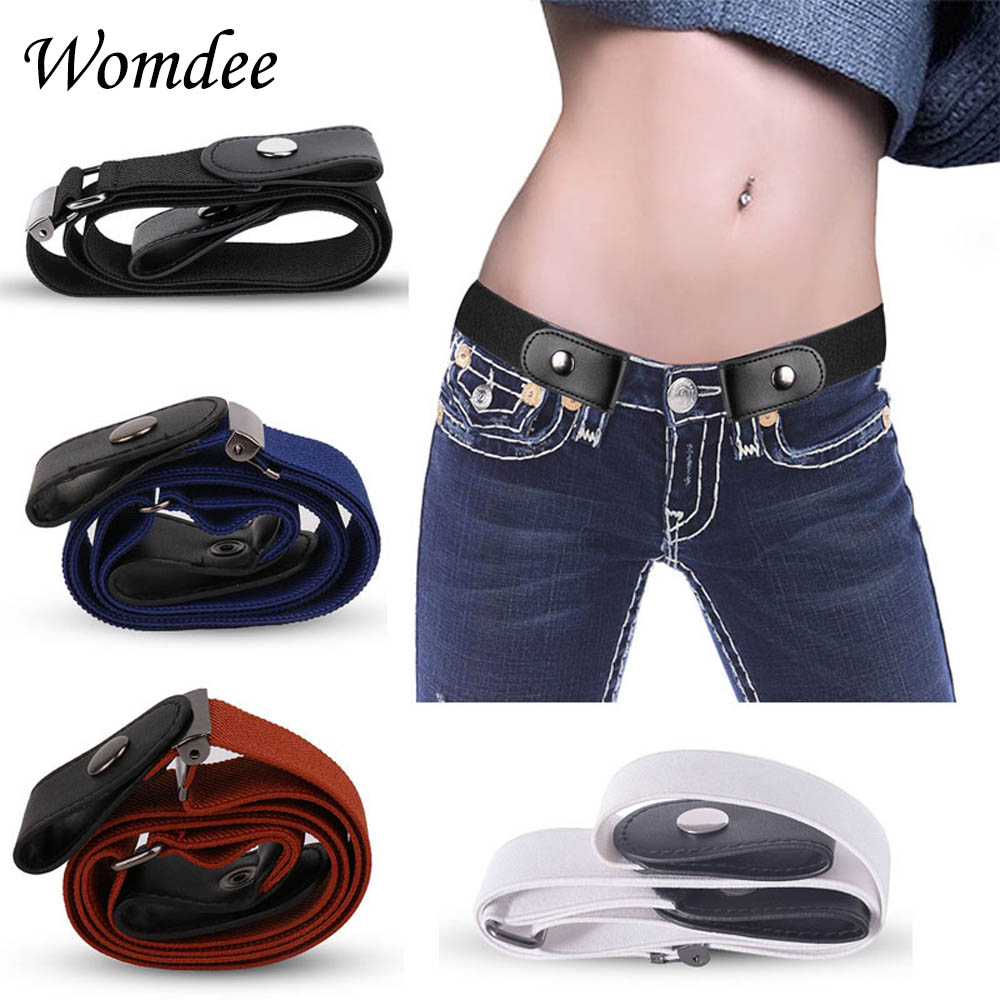Buckle Free Elastic Adjustable Belt No Buckle Stretch Belt Women Men Plus Size Invisible Belts Waist Belt for Jeans Pants Dress
