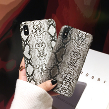 Qianliyao Snake Skin Pattern Phone Case For iPhone 8 7 6 6s Plus Case Hard PC Back Cover For iPhone 11Pro Max X XS MAX XR Fundas scenery pattern protective pc back case cover for iphone 6 plus black multi colored